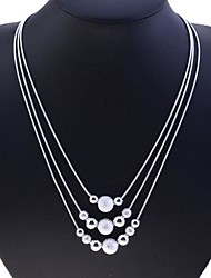 Necklace Strands Necklaces Jewelry Party / Daily / Casual Fashion Silver / Sterling Silver Silver 1pc Gift