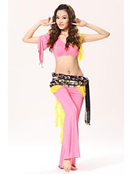 Belly Dance Chiffon with Gold Coin Flower Waist Chain/Shawls(More colors)