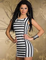 Mlnr Women's Nightclub sexy striped bag hip miniskirt