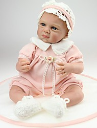 NPK 55CM 22'' Reborn Baby Doll Imported Silicone Vinyl Handmade Lifelike Baby Alive Toys with Clothes Best Gift