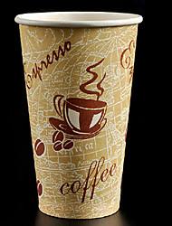 engrossar e maior copo de café descartável de papel, 20 onças, 100pcs / bag