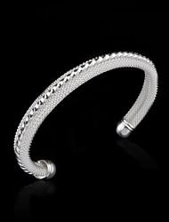 de moda de alta calidad de plata pulsera neta de la mujer