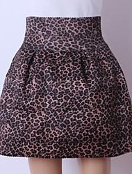 cintura alta moda animal print de las mujeres delgadas faldas
