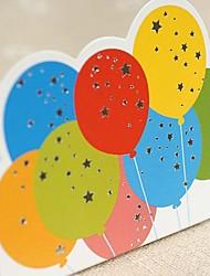 Non personnalisés Pli Parallèle Vertical Invitations de mariage Cartes d'anniversaire-1 Pièce/Set Style artistique Papier durci