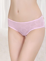 Polyester Sexy Pink Lace Casual/Party Panties