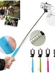 cableada actualizado anti-rotación Autofoto extensible botón del control remoto soporte monopie de mano para el iphone smasung (colores surtidos)