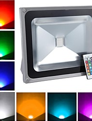 1 High Power LED 4900 LM RGB Remote-Controlled LED Flood Lights AC 85-265 V