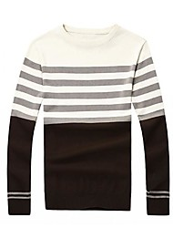 Moda tarja cor camisola de malha de 2015men