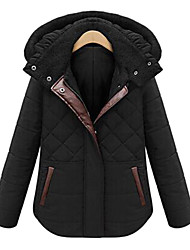 Women's Hooded Short Zipper Parka