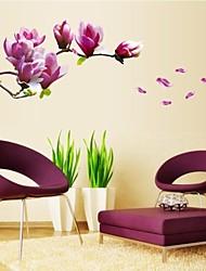 adesivos de parede decalques da parede, naturais românticas mangnolia pvc adesivos de parede