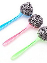 Steel Wire Ball Brush,Wash Brush,Stainless Steel 20.5×6.5×2 CM(8.1×2.6×0.8 INCH) Random Color