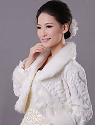 Wedding Faux Fur Coats/Jackets Fur Wraps