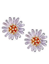 Boucles d'oreille goujon Argent sterling Forme de Fleur Marguerite Or Argent Bijoux 2pcs