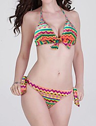 Women's Fashion Sexy Indian Print Bow Triangle Bikini Set Swimwear Swimsuit Biquini Bathing Suit