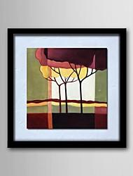 pintura a óleo cenário moderno pintado mão-de linho natural de madeira maciça pinturas quadro sem moldura