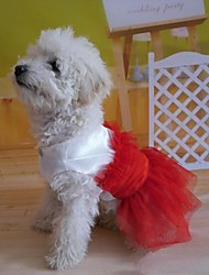 Dresses for Dogs Red Summer S / M / L / XL Cotton