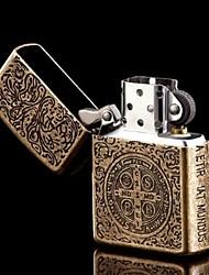 zorro mecheros de aceite de latón grabado sin aceite