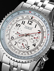 WINNER® Men's Automatic Mechanical 6 Pointers Silver Steel Band Wrist Watch Cool Watch Unique Watch Fashion Watch
