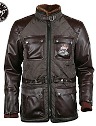 Cafe Ride Cafe Racer British Style Motorcycle Moped Long Warm Casual Jacket with EVA Padding at Back