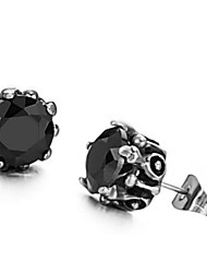 Women's Titanium Steel Diamond Earrings