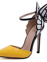 Vinda Women's Shoes Purple/Yellow Stiletto Heel 10-12cm Pumps/Heels (PU)