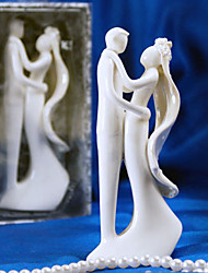 Cake Topper Non-personalized Ceramic Bridal Shower / Wedding White Garden Theme Gift Box