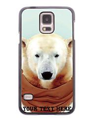 personalisierte Telefonkasten - weißer Bär Design-Metall-Gehäuse für Samsung Galaxy i9600 s5