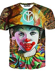 les hommes de premier ordre imprimé floral t-shirt à manches courtes de la mode causual