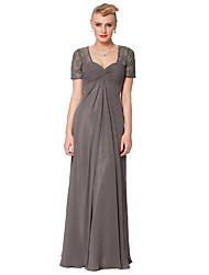 Dress - As Picture Petite Sheath/Column Queen Anne Floor-length