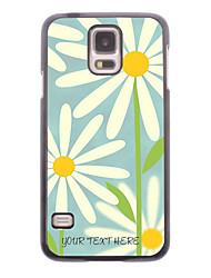 personalisierte Telefonkasten - weiße Blume Design-Metall-Gehäuse für Samsung Galaxy i9600 s5