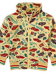 camisolas de inverno do menino manga longa de carro global hoodies impressos impressão aleatória