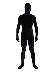 velluto nero corpo pieno tuta zentai