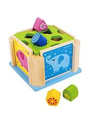 brinquedo educação caixa em forma benho mdf madeira de borracha animais