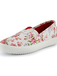 Women's Shoes Canvas Platform Comfort / Round Toe / Creepers Fashion Sneakers Office & Career / Dress / Casual Multi-color