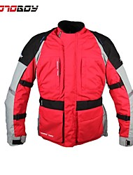Motoboy Men's Waterproof and Warm Motorcycle Long Jacket 4 Season Wear with CE Protectors