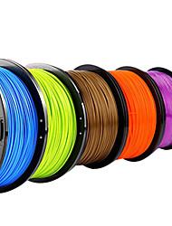 Lanu Metel Color 3D Printer Filament 3D Printing Consumables Material(PLA ABS,1.75mm 3.0mm,1KG)
