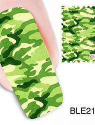 1pcs camouflage watermerk nail art stickers ble2144