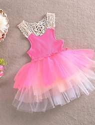 2015 Summer Girl Dress Sleeveless Girls Sundress Children Princess Clothing Kids Dancing Dresses