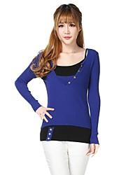 la mode féminine enchemisé articulé couleur tricot pull
