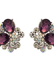 Yue Women's Causual Fashion Cubic Zirconia Stud Earrings