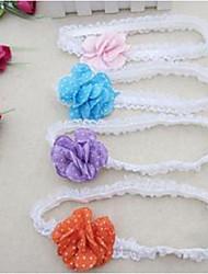 Girl's Dots Flower Headband