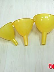 100 piezas al por mayor de 3 piezas de plástico embudo de usos múltiples, de plástico 14 x 10 x 10 cm (5,6 x 4,0 x 4,0 pulgadas)
