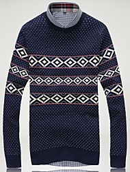 Men's Fashion Round Neck Jacquard Sweater