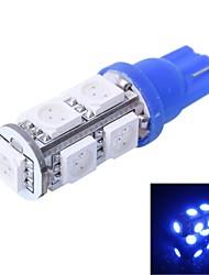 gc® t10 2W 200LM 9 × 5050 SMD conduziu a luz de cor para as lâmpadas de luz instrumento carro / porta / tronco (DC 12V)
