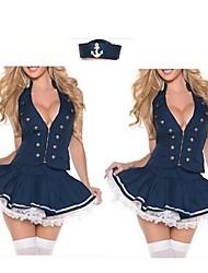 Halloween/Carnival Uniforms Aludt Navy Costumes Top/Skirt/Hat