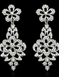 1 par de strass cristal senhora moda charme projeto oscilar eardrop Brinco 2.8 * 7,9 centímetros