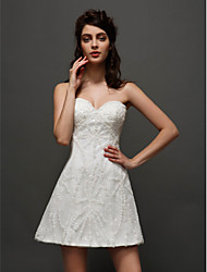 Lanting Bride A-line Wedding Dress-Short/Mini Sweetheart Tulle