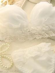 Soutien-gorge ( Noir/Rose/Vert/Blanc , Coton/Mousseline de Soie ) - Push-up/Bonnet 3/4