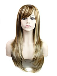 28 Inch Long Big Wave Female Fashion Heat Resistant Fiber Synthetic Wig with Side Bang