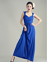 Ankle-length Silk Bridesmaid Dress - Royal Blue / Black Ball Gown Sweetheart